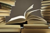 textbook pile 176830668