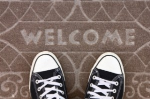 welcome home mat 153175668