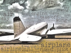 plane with words 178982845