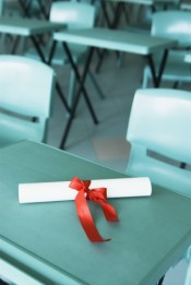 diploma on desk 80411068