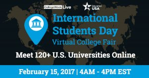 online college fair for international students